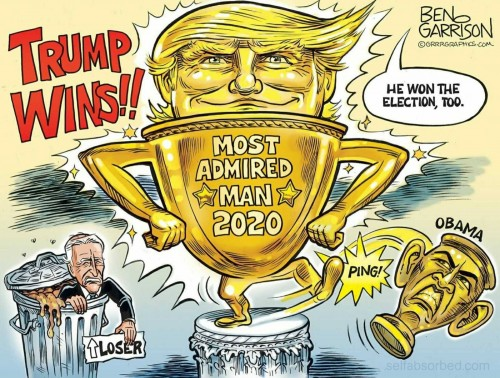 Trump most admired man 2020